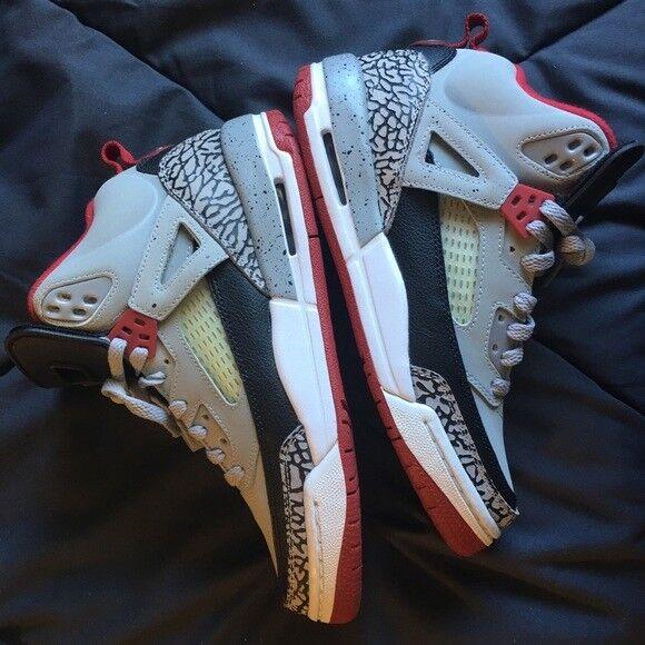 Jordan Spizike Men BG 6.5 Y wolf grey gym red shoes