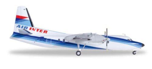 HE556965 Herpa Wings Air Inter F-27 1:200 Model Airplane