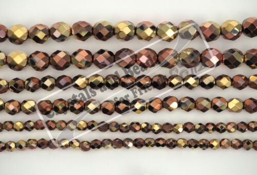 300 Preciosa Czech Glass Fire Polished Round Beads 6mm Jt California Golden Rush