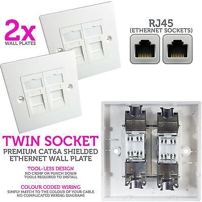 Rj45 Ethernet Data Socket, Cat5e Wiring Diagram Rj45 Wall Plate