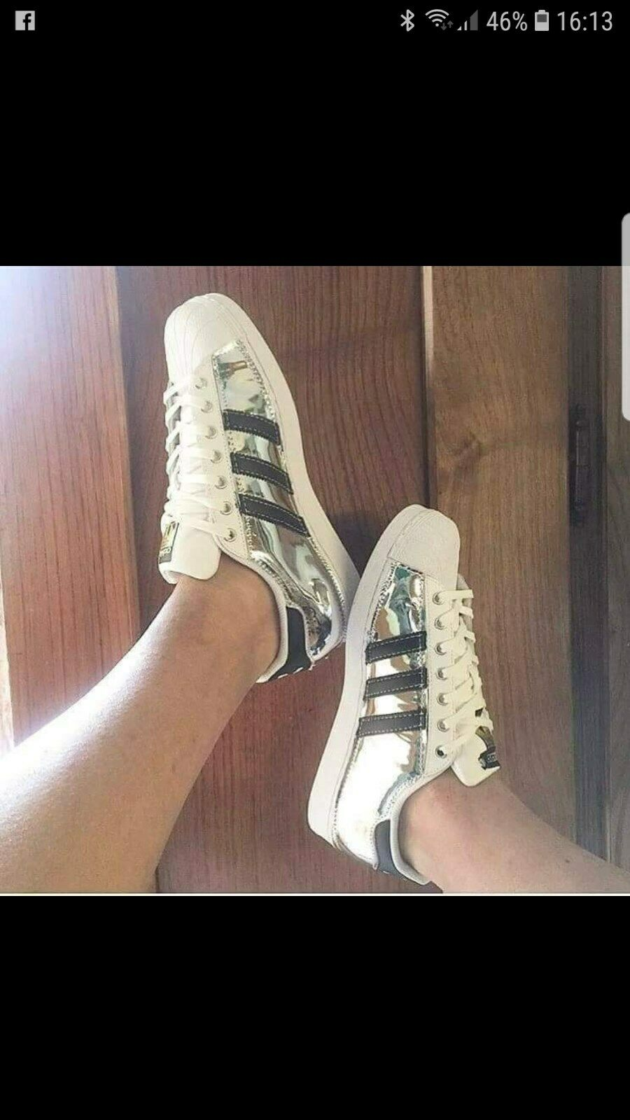 Schuhe Adidas Superstar mit Verspiegelt Silber