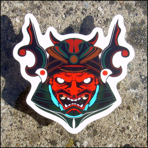 Samurai Mask Sticker vinyl decal JDM Japan car bike manga tuning bumper ninja
