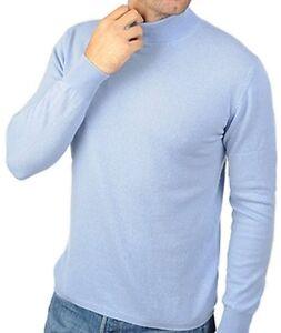 Col Pullover 100 Balldiri Ciel 2 S Bleu Homme plis Cachemire wqtxfE