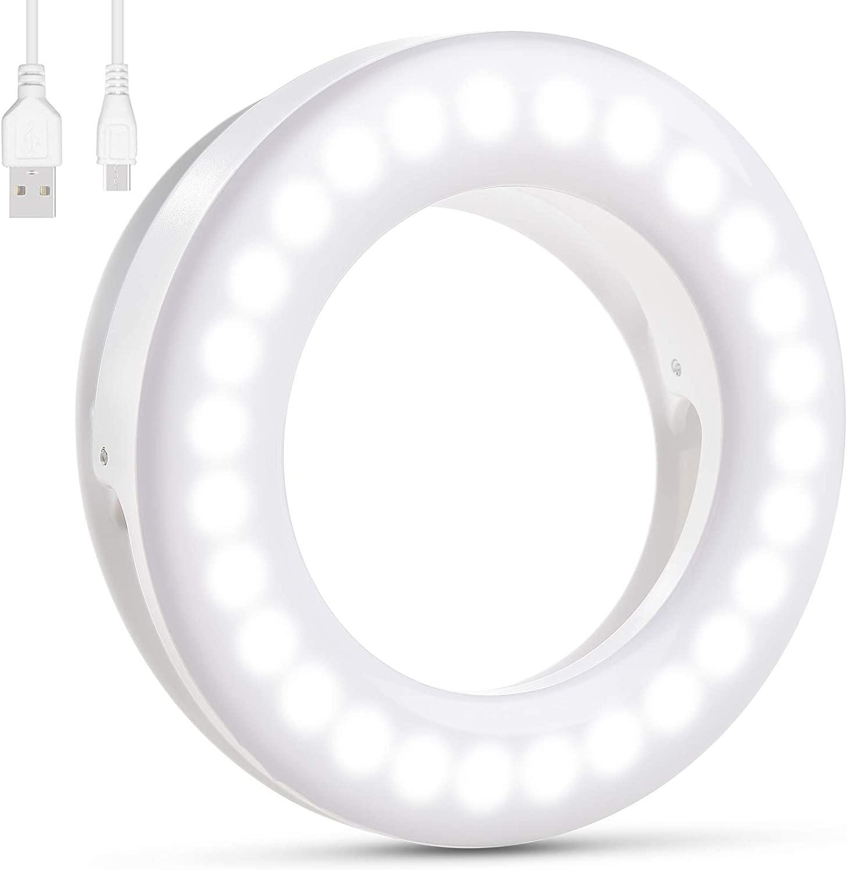 Selfie Light, [Batter Battery Life] Diyife Rechargeable Selfie Ring Light, 3 40