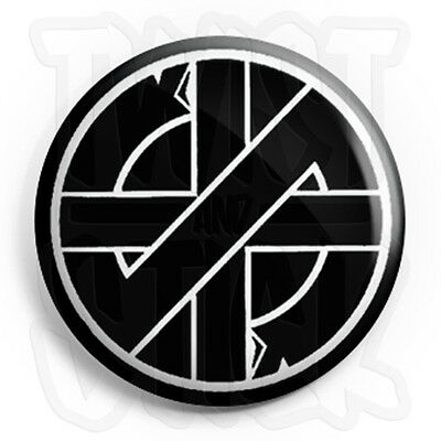 Crass 25mm Punk Badges with Fridge Magnet Option Button Badge Symbol Logo