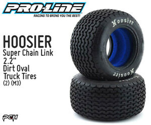 PRO-LINE-HOOSIER-Super-Chain-Link-Dirt-Oval-2-2-034-Truck-Tires-2-M3-PRO828002