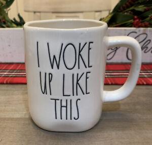 Rae Dunn by Magenta - I WOKE UP LIKE THIS - LL White Ceramic Coffee Tea Mug