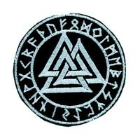 Valknut Odin Viking Symbol Patch Iron On Applique Old Norse Scandinavia Metal