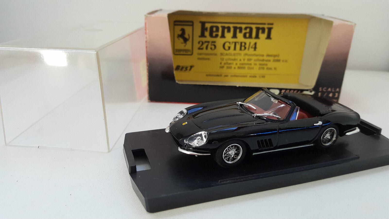 Best Model - 9005 - Ferrari 275 GTB 4 Scaglietti Spyder Ruote a raggi noire 1 43