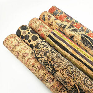 Vintage-Soft-Natural-Cork-Leather-Fabric-Sheets-Sewing-Handcraft-Bag-Half-Metre
