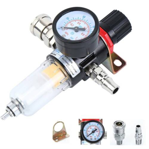 """1//4/"""" BSP Druckminderer Druckluftregler Filter Wasserabscheider Wartungseinheit D"""