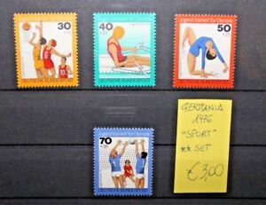 FRANCOBOLLI-LOTTO-GERMANIA-1976-034-SPORT-ATLETICA-034-SERIE-NUOVI-MNH-SET-CAT-X