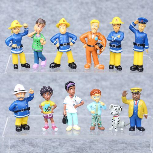12//1pz Divertente Sam il Pompiere PVC Action Figures Cartoni Animati Bambola