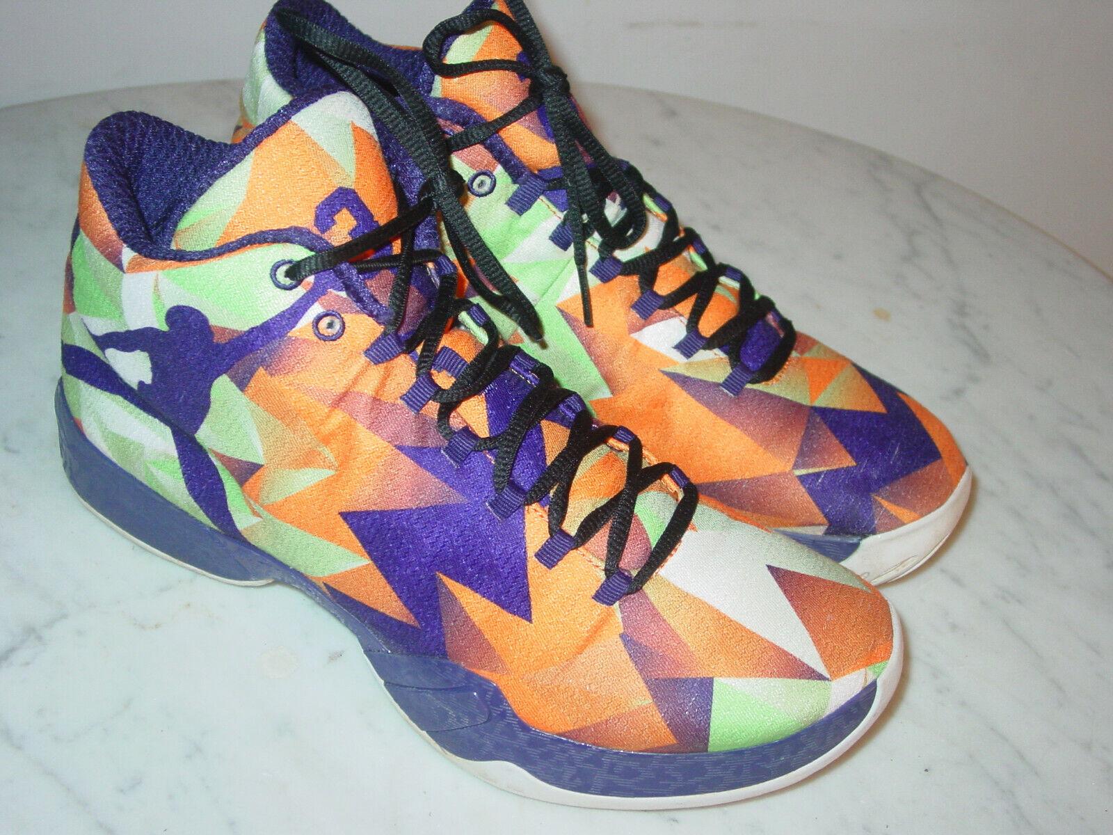 2014 Nike Air Jordan 29  Hare  Bright orange Ink Basketball shoes  Size 10.5