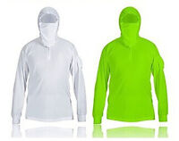 Fishing Clothes Shirts Sun Protect Anti-uv Breathable White Green Men Quick Dry
