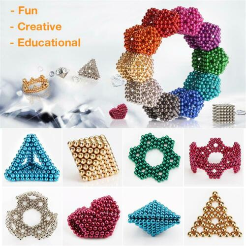 512 Pcs 8mm 5mm Magnetic Balls Magic Beads 3D Puzzle Ball Sphere Magnetic Cube