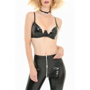 Patrice Catanzaro - Sg - Soutien-gorge sexy fetish coquin en vinyle noir.