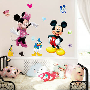 DIY lovely Mickey Removable Vinyl Wall Decal Kids Room Home Decor ... 3cd7a978f100