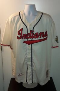 differently b84d2 b7d83 Details about Bob Feller Cleveland Indians 1948 Mitchell & Ness Retro  Jersey XL