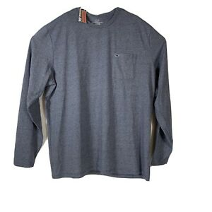 Vineyard-Vines-Mens-Edgartown-Embroidered-L-S-Pocket-Tee-Sz-2XL-Blue-NEW