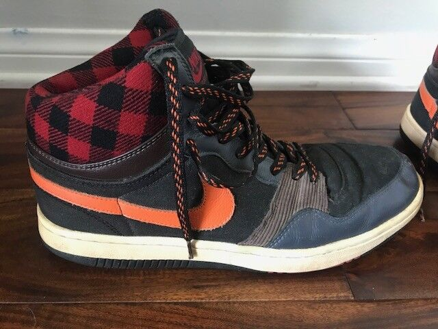Nike dunk Multi Color High Plaid Basketball Leather 311206-082 Price reduction
