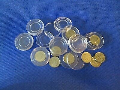 Lot of 10 Direct Fit 19mm Coin Capsules for Pennies