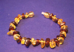 1 Genuine Baltic Amber Baby Bracelet Mixed Color