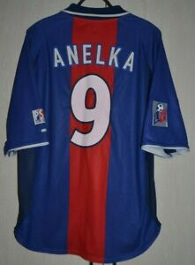 PSG-Paris-Saint-Germain-FRANCE-2000-2001-Football-shirt-Jersey-NIKE-9-Anelka