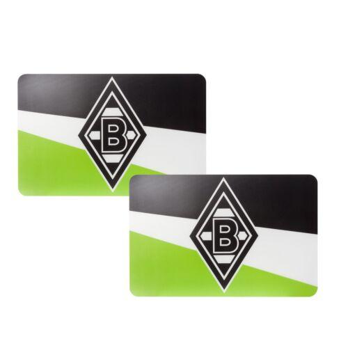"""Borussia Mönchengladbach Tischset /""""Schrägstreifen/""""  2er Set"""