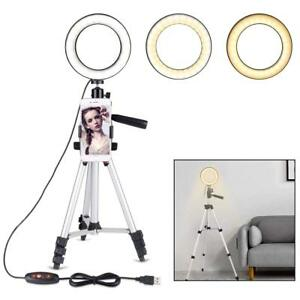 Ring Light Stand Tripod Mini LED Camera Light With Cell Phone Holder LED Lamp 762758268490