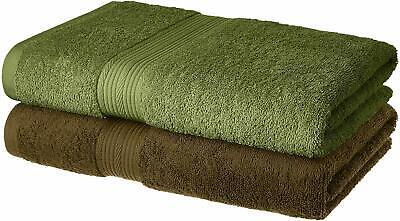 100/% Cotton 70 x 140 cm Greek Key Border- Soft /& Absorbent 520 GSM PH Pleasant Home Bath Towels Set 2 Pack Mocha