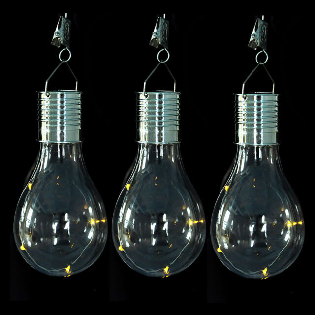Waterproof 5 LED Rotatable Solar Light Bulb Camping Hanging Outdoor Garden Lamp