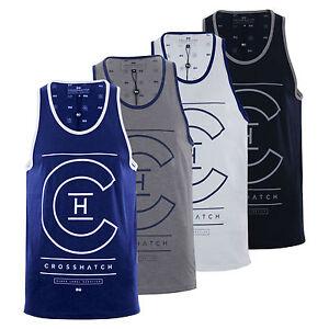 Homme-debardeur-t-shirt-crosshatch-alfa-summer-muscle-back-tank-top