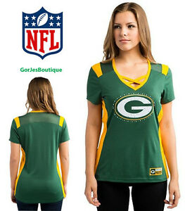 9c5a0da0 Details about Womens NFL Majestic Green Bay Packers Draft Me Tee Shirt Size  M / L