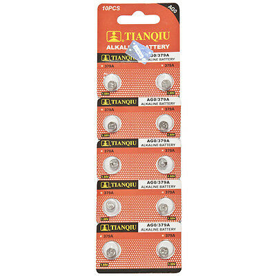 10×379,LR63,AG0 TIANQIU Alkaline Primary Battery Brand New Factory Direct Card