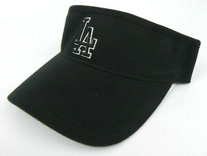 LOS-ANGELES-DODGERS-MLB-BLACK-VINTAGE-VISOR-CAP-HAT-BY-AMERICAN-NEEDLE-NWT-RARE