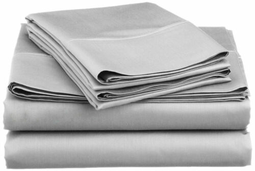 Silver Light Gray Solid RV Camper /& Bunk Sheet Set All Sizes 1000TC Egy Cotton