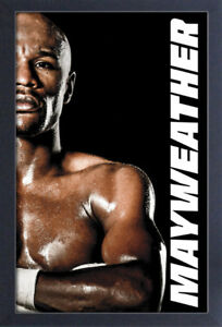 FLOYD MAYWEATHER 13x19 FRAMED GELCOAT POSTER TMT BOXING CHAMPION GREATEST EVER!!