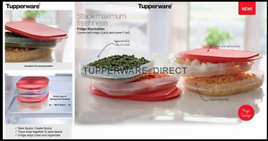 Image Is Loading Tupperware Fridge Stackables Storage Set Meat Cheese Clear