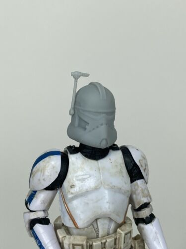 "Custom Star Wars Commander Wolffe Realistic Clone Helmet Black Series 6"" 1//12"
