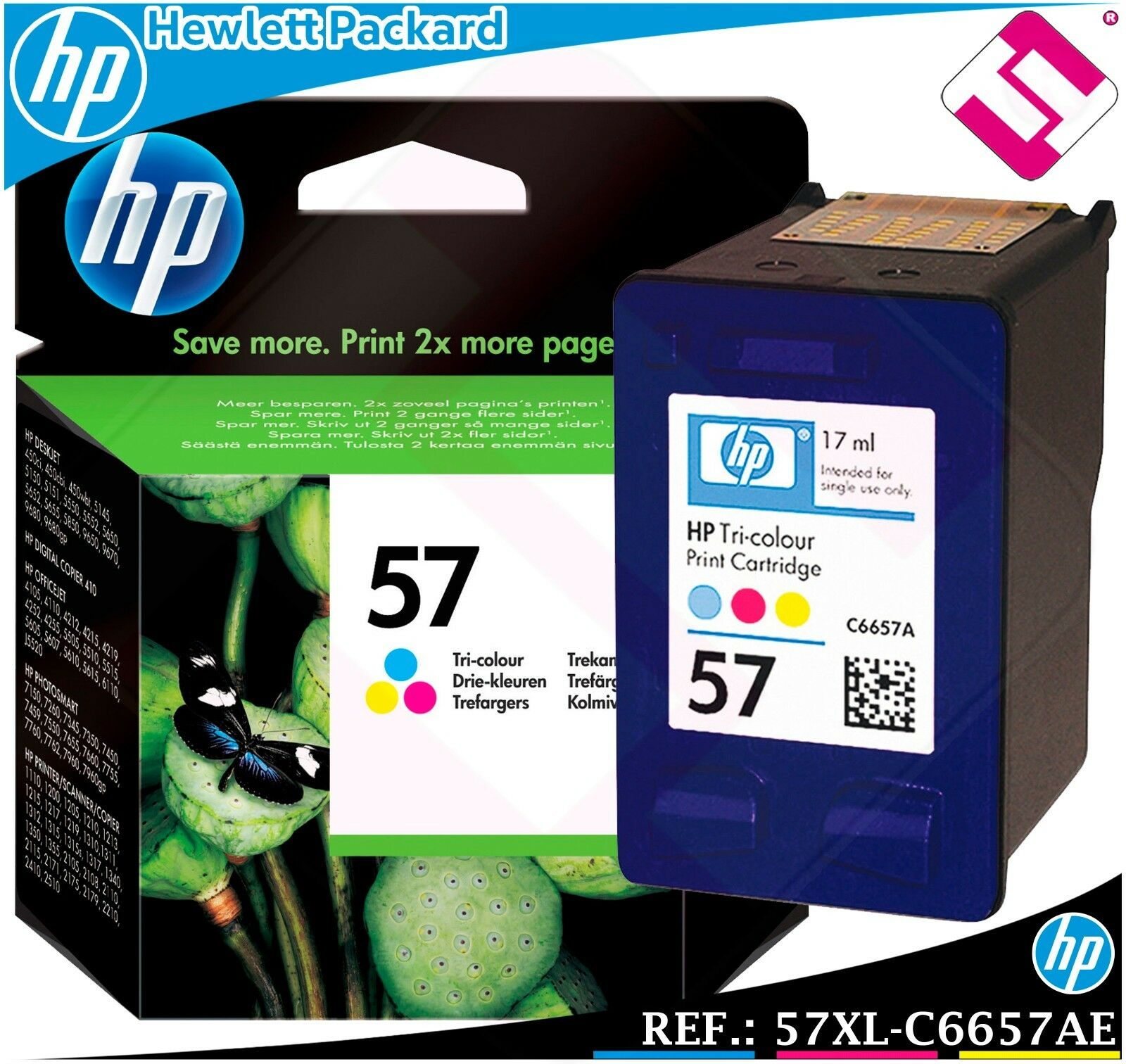 Hp No 57 Colour Original Oem Inkjet Cartridge For Psc Printer Canon Cl Norton Secured Powered By Verisign