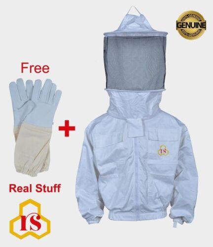XL beekeeper beekeeping Best quality 100/% cotton jacket Round veil size
