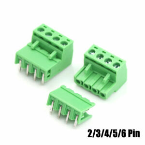PCB-Morsettiera-Pluggable-Connettore-Terminale-5-08mm-Vite-Plug-In-2-3-4-5-6-PIN