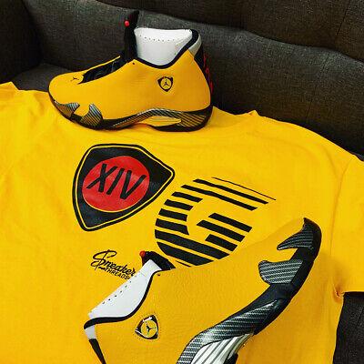 Shirt Match Jordan 14 Gelb Reverse Ferrari Og Tee Shirt Ebay
