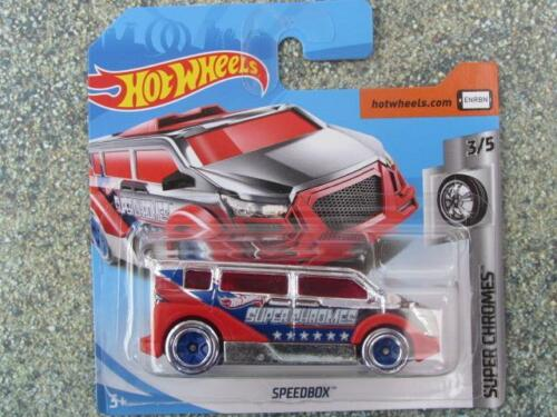 Hot Wheels 2019 #022//250 Speedbox Furgoneta Cromado y Rojo @ A