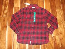 NWT Mens JACHS Black Red Plaid Heavy Flannel L/S Collared Shirt XXL 2XL