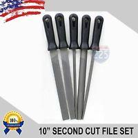 5 Piece 10 Second Cut File Set Round /square /flat /half-round /hand Tool Kit