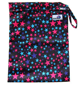 Details About Waterproof Reusable Wet Dry Bag For Swim Wear Cloth Nies Blue Pink Stars