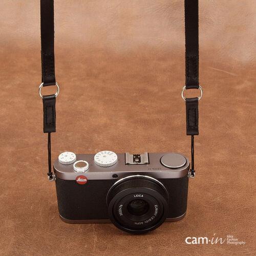 Cinturino in Pelle Marrone Chiaro fotocamera con Anello /& String Loop connessione CAM2280 UK STOCK