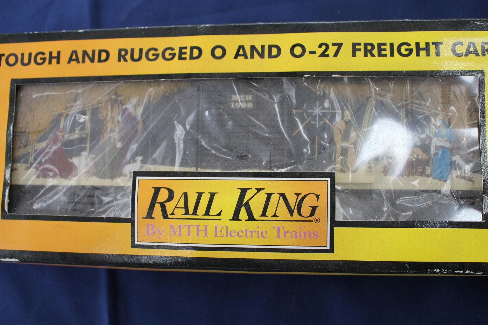 1998 Rail King by MTH Holiday Box Car L2957
